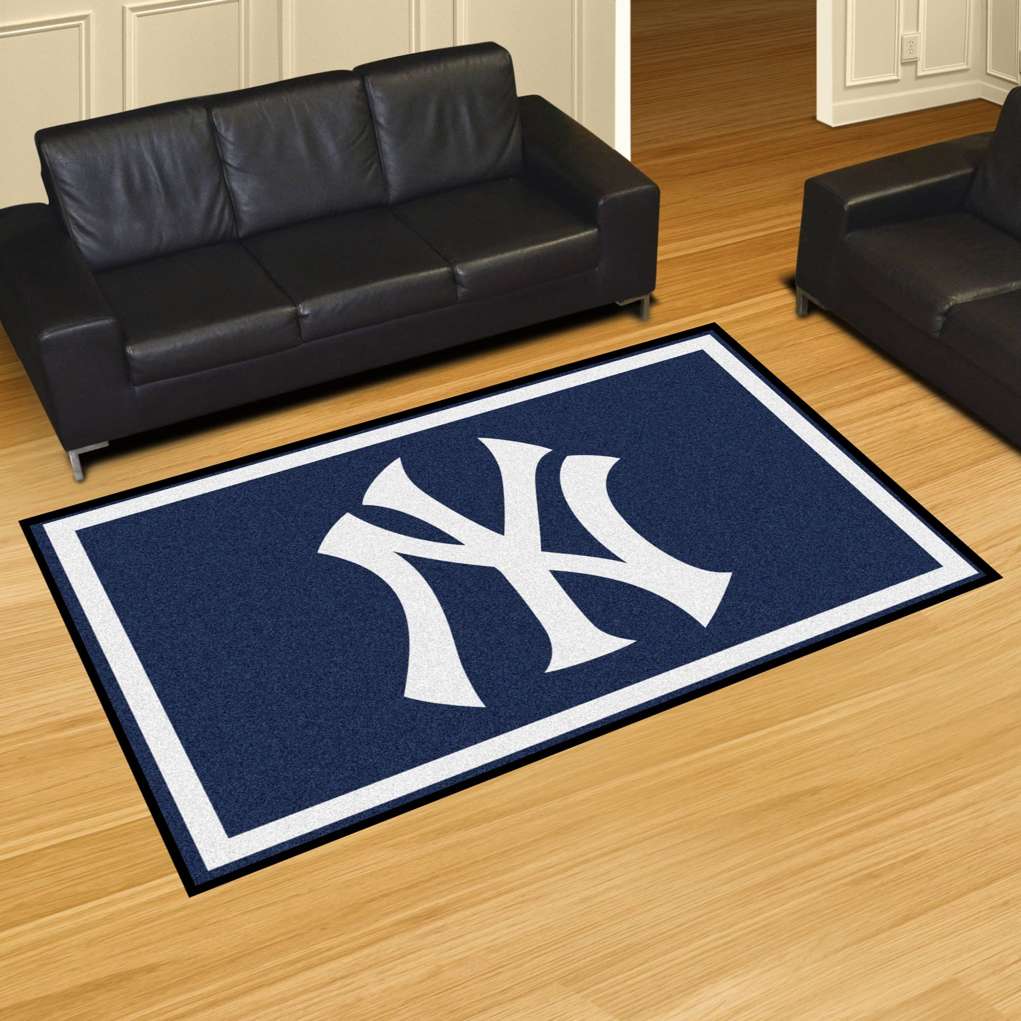 New York Yankees 5x8 Rug