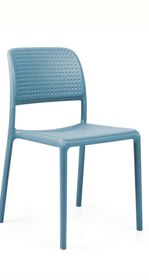 Amazing Gartenstuhl blau Blauer Stappelstuhl f r den Garten Nardi Bora Bistrot Stapelstuhl Kunststoff mehr