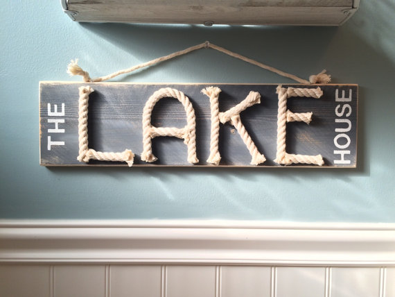 The Lake House Sign Nautical Rope By Highplainsknotwork