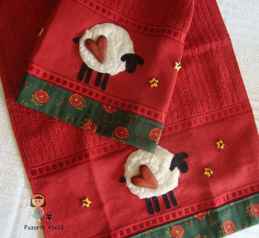 Tolha de Lavabo Natal (Fuzarte Ateliê - Rachel Justo) Tags: natal patchwork toalhadelavabo