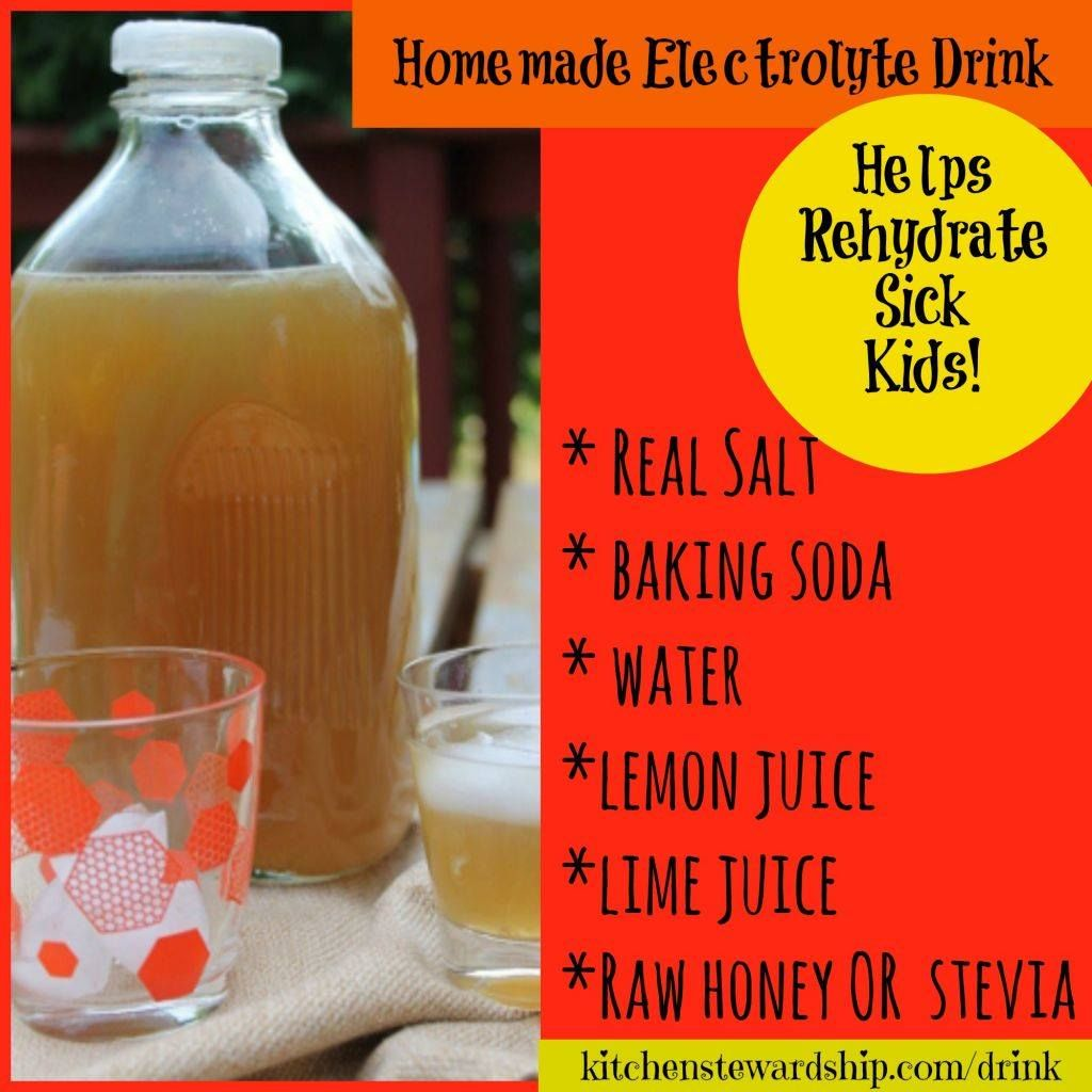 Healthy homemade electrolyte drink stevia or honey