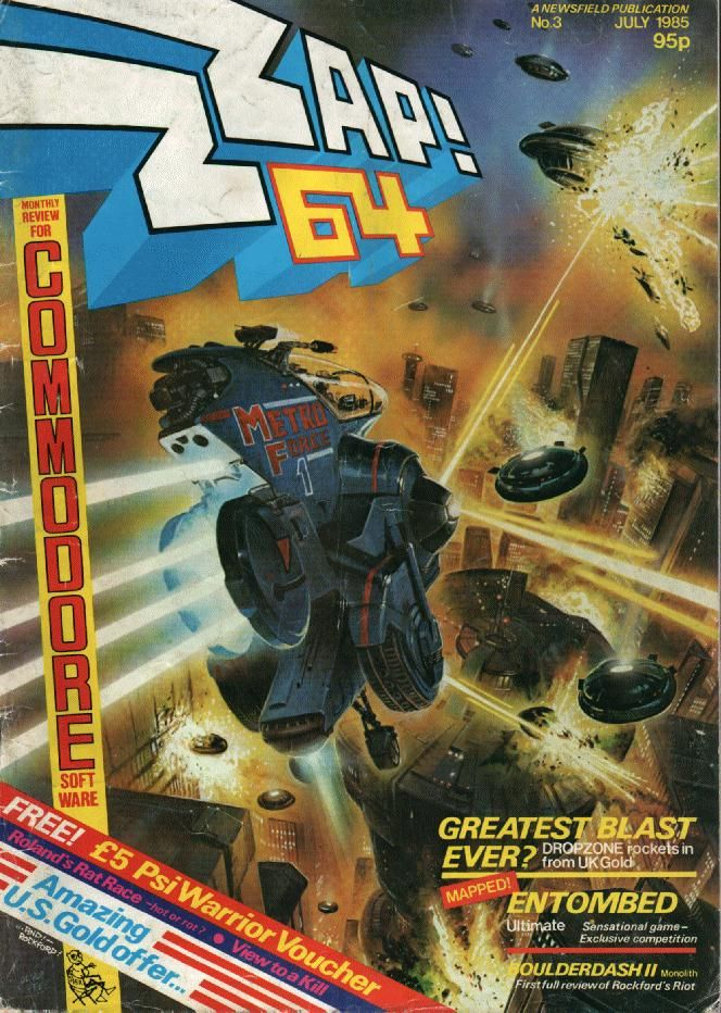 Cover of Zzap!64 Issue 3 Commodore 64 Mag. Classic