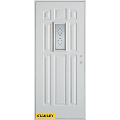 Stanley Doors Geometric Zinc 9 Panel White 32 In X 80 In Steel