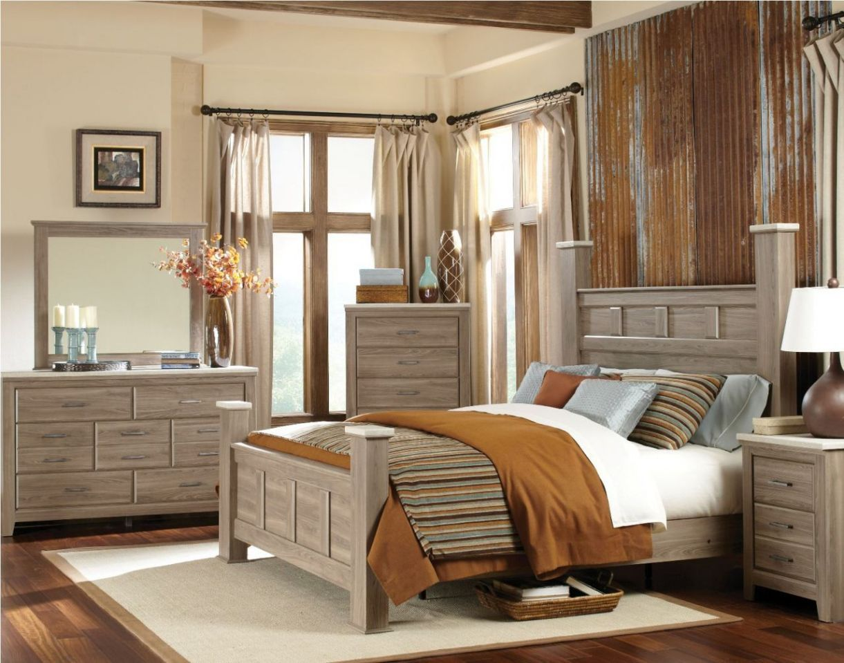 oak bedroom weathered driftwood wood furniture
