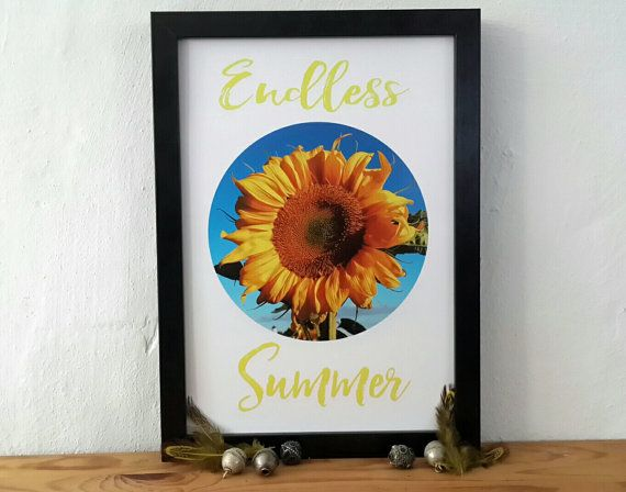 Poster endless summer von BatonRougeArts auf Etsy original artwork, wall art, linoprints, linocut, monotype, monoprint, wall decor, print, poster, typo, digital print, printmaker, abstract art, modern abstract, contemporary art, sun flower