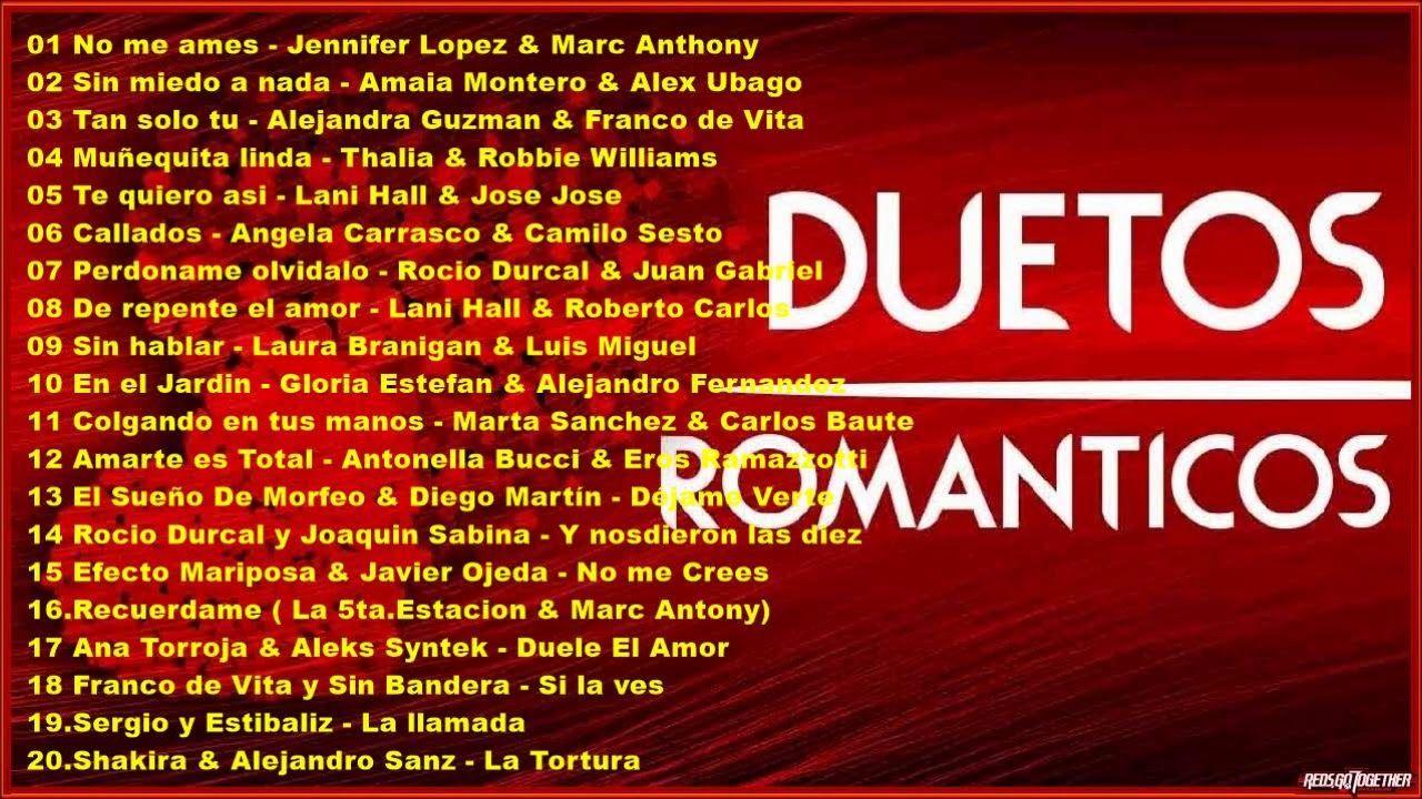DUETOS - Los mejores duetos Romanticos - Volumen 1   MUSICA