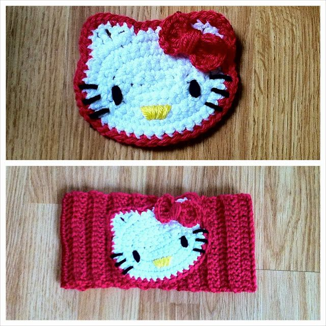 Hello Kitty Crochet Headband | Crochet | Pinterest