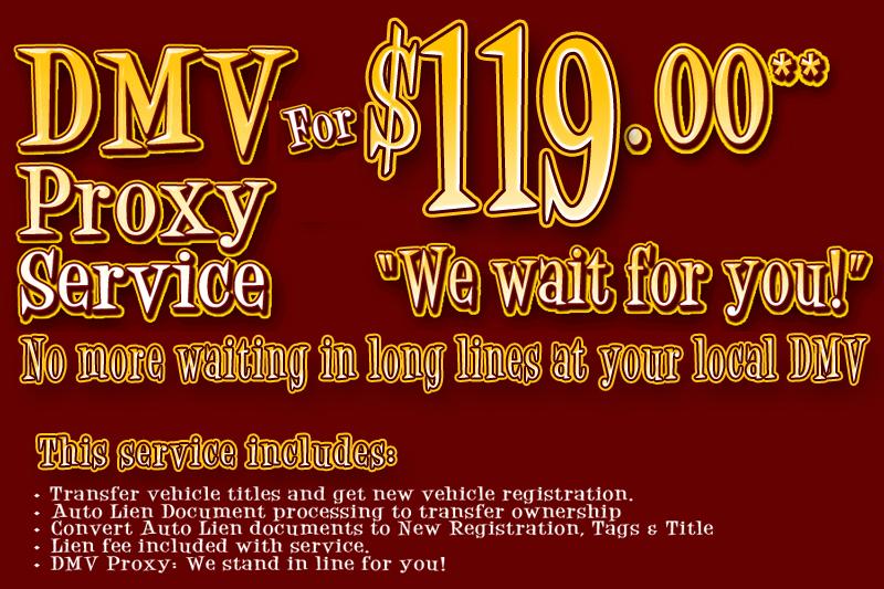 CA DMV Lien Sale Title Transfer service for cars that have
