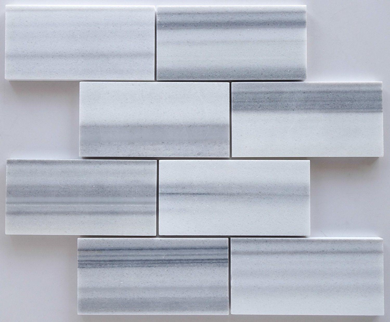 3 X 6 Mink Marmara Equator Marble Polished Subway Brick Field Tile Natural Stone Tile Brick Tiles Marble Polishing