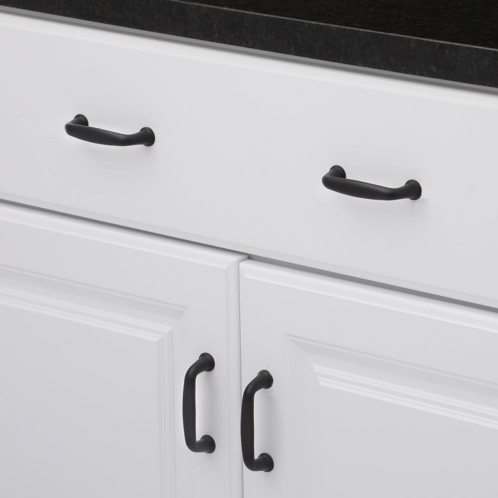 matte black cabinet pulls. Richelieu Hardware 3 In. Black Schoolhouse Dual Mount Cabinet Pull Matte Pulls R
