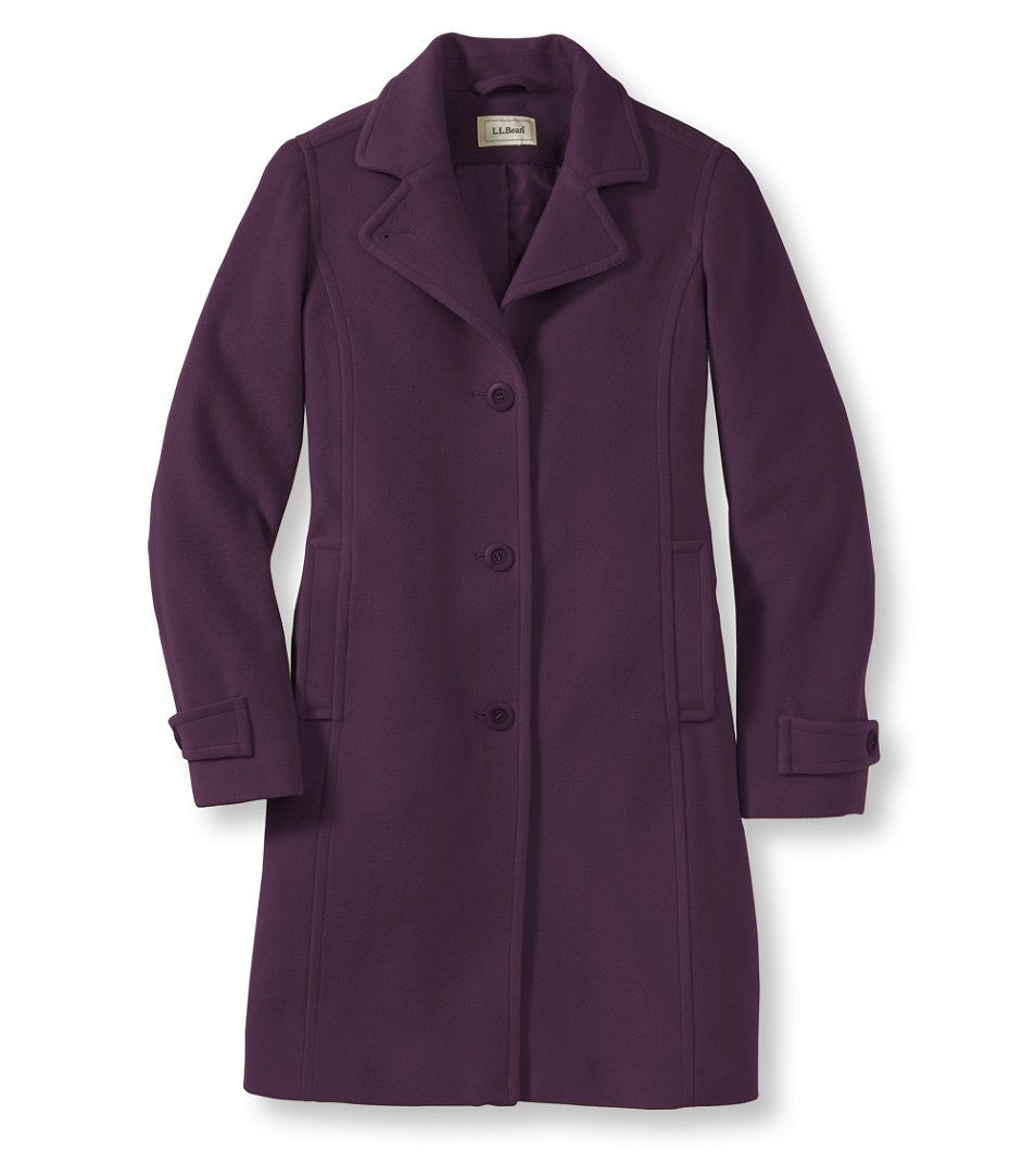 Classic Lambswool Polo Coat, Three-Quarter misses