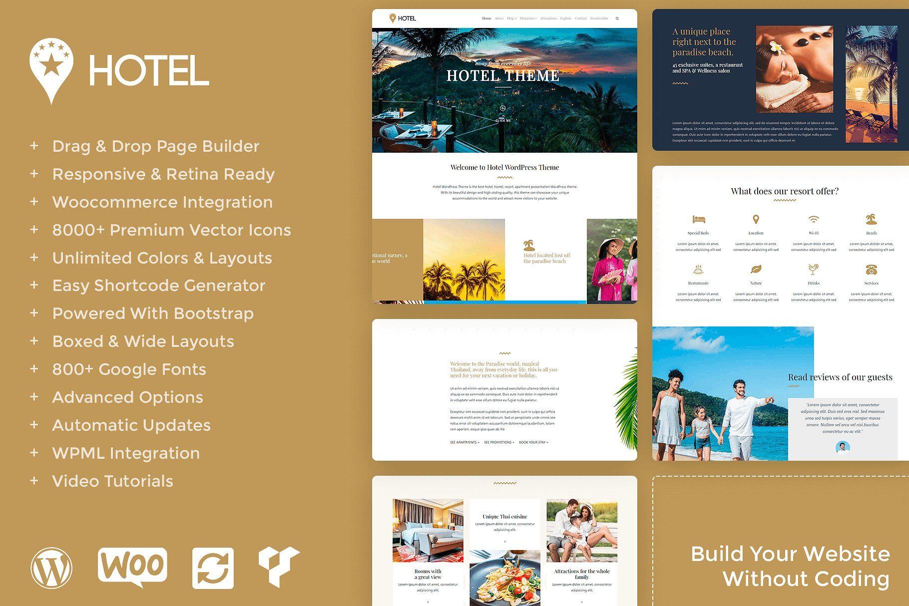 Hotel Resort Wordpress Theme Resort Hotel Wordpress Themes