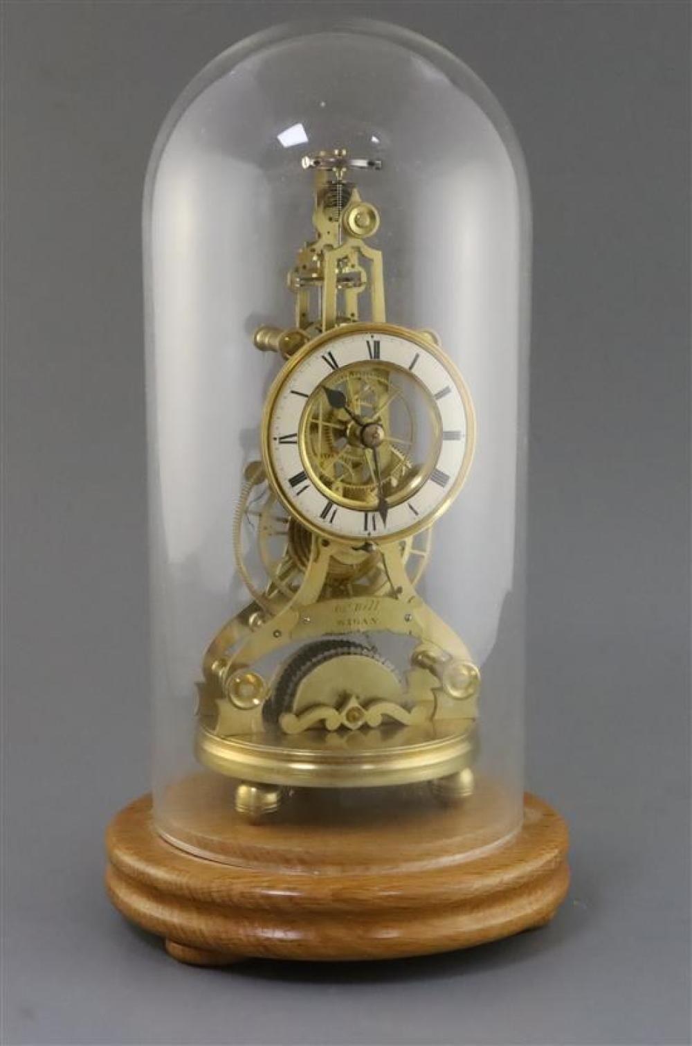 John Bell Of Wigan A Rare Balance Wheel Lever Escapement Brass Skeleton Timepiece In The Manner Of James Condliff Liverpool 11in He Wigan Time Piece Balance Wheel