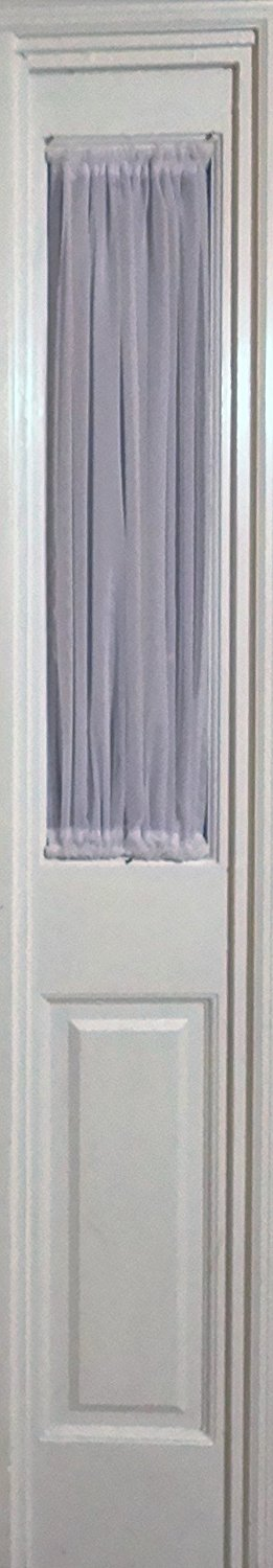 White Sheer Sidelight Curtain 29 Wide 35 Length Rod Pocket Top