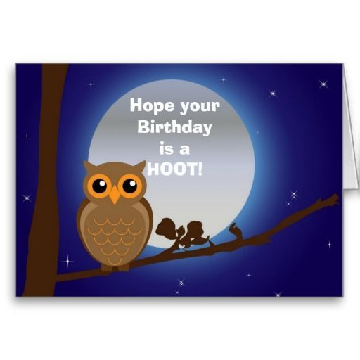 Happy birthday with owl birthday humor cards happy birthday birthday humor cards bookmarktalkfo Image collections