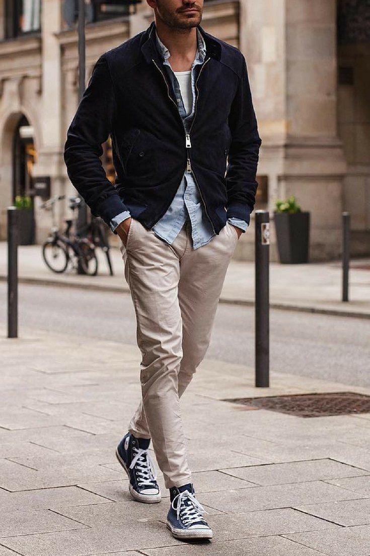 How To Wear Simple Outfits And Look Sharp En 2020 Chaqueta De Moda Para Hombre Moda Ropa Hombre Ropa De Moda Hombre