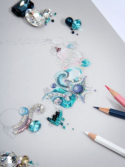 swarovski, jewelry, spring, summer, 2016, trends, aquatic, Nathalie Colin