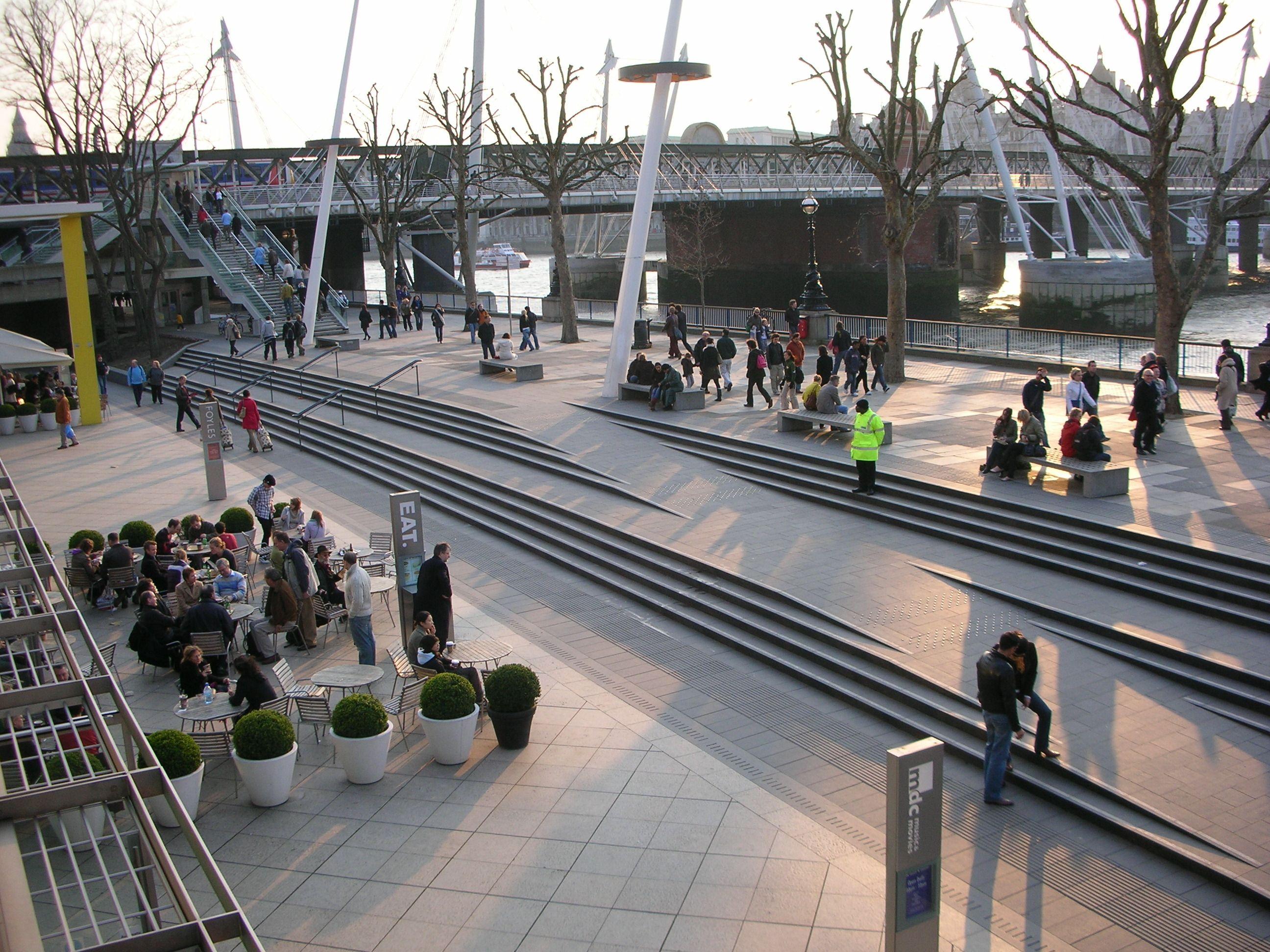 Landscapes along the south bank - Southbank Royal Festival Hall Landscape Steps And Ramp
