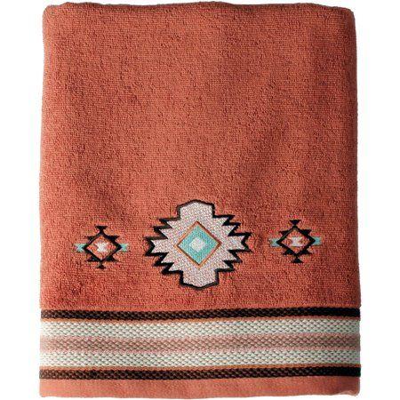Mainstays Aztec Sunset Bath Towel Collection Multicolor Towel