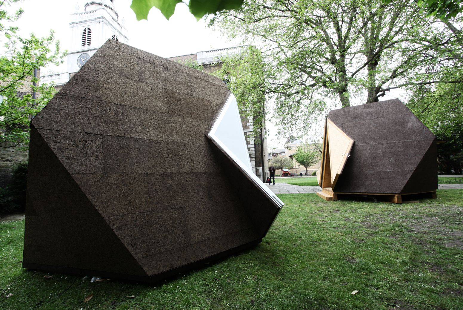 Great Cork Clad Tetra Shed® Shell And Kiosk At Clerkenwell Design Week 2013