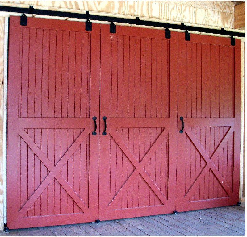 Triple Combination Of Sliding Doors For Storage Area Barn Door Decor Garage Door Design Doors