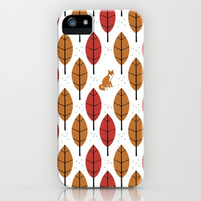 """Prepare for the Fall with the """"Autumn Fox"""" Phone Case by Laurxy on Society."""