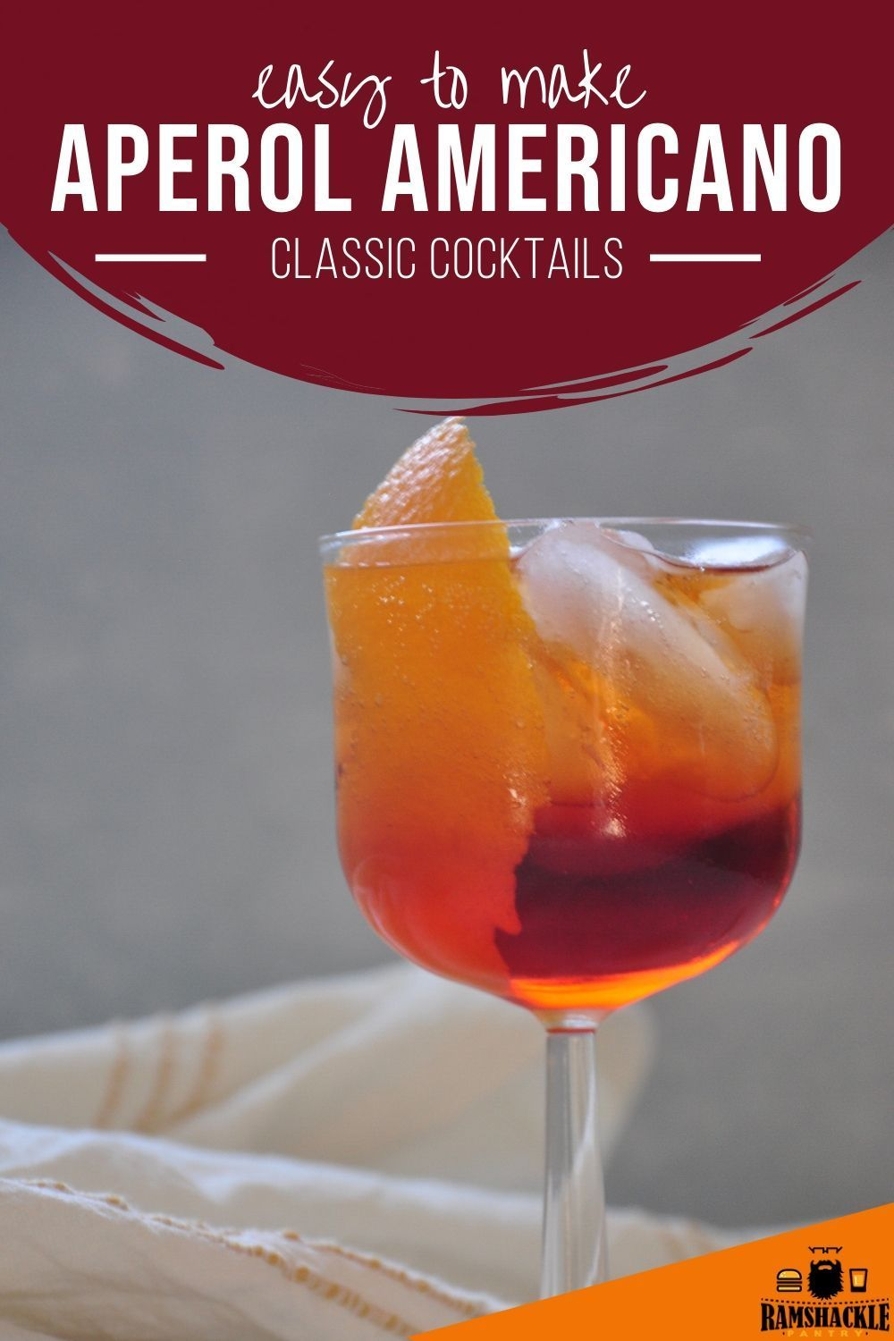 Aperol Americano Cocktail In 2020 Summer Drink Recipes Classic Cocktail Recipes Mixed Drinks Recipes