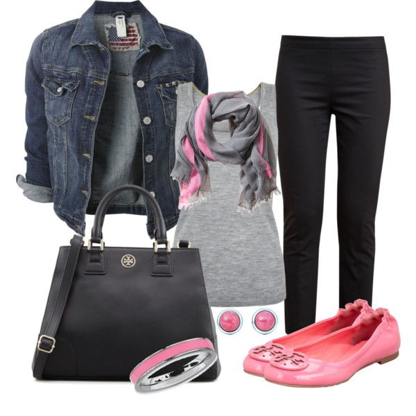 """Pop of Pink"" by michellesolinas on Polyvore"