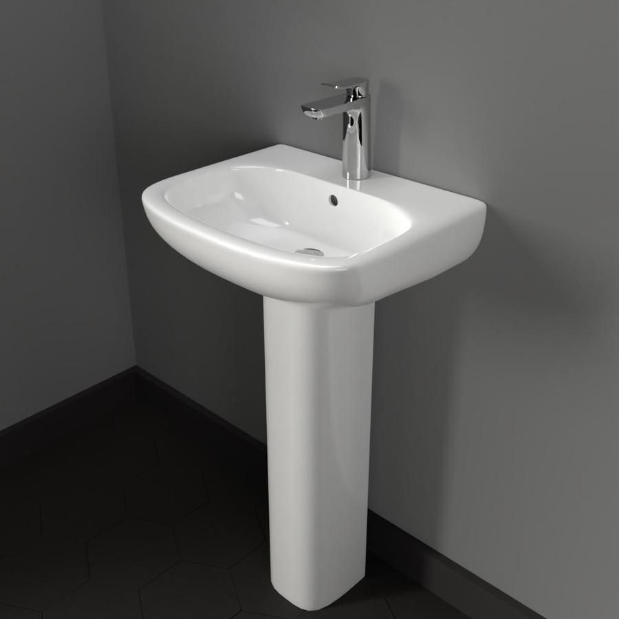 Galena 100 Vitreous China Pedestal Sink In 2020 Pedestal Sink