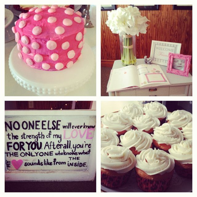 baby girl shower/ sip & see / pink & grey