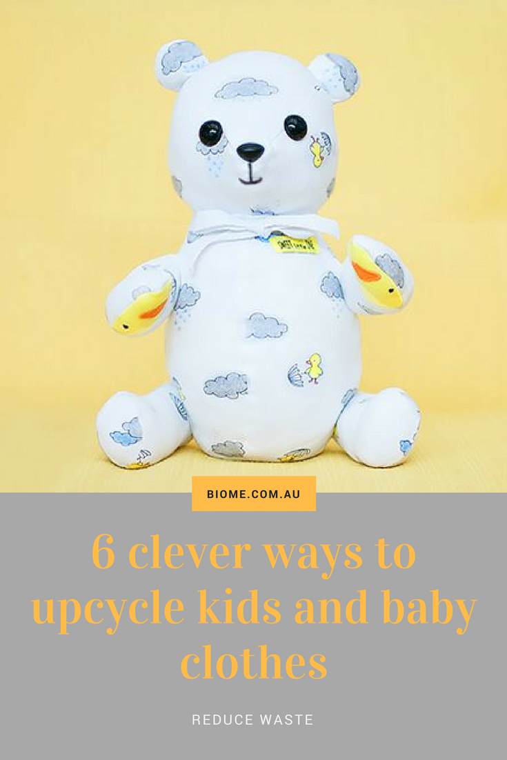 "Clever ways to upcycle kids and baby clothes is part of Upcycle Clothes Baby - Upcycle clothing that babies and children have grown out of with these six clever and fun ways to give them a second useful life  Kids clothes receive a tough workout and are often not fit to hand on to someone else  With each idea, you will find a ""learn how to"" link that takes you to …"