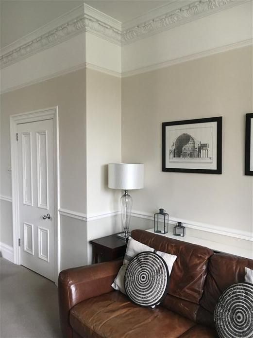 Surprising Living Room In Farrow And Ball Shaded White Slipper Satin Machost Co Dining Chair Design Ideas Machostcouk