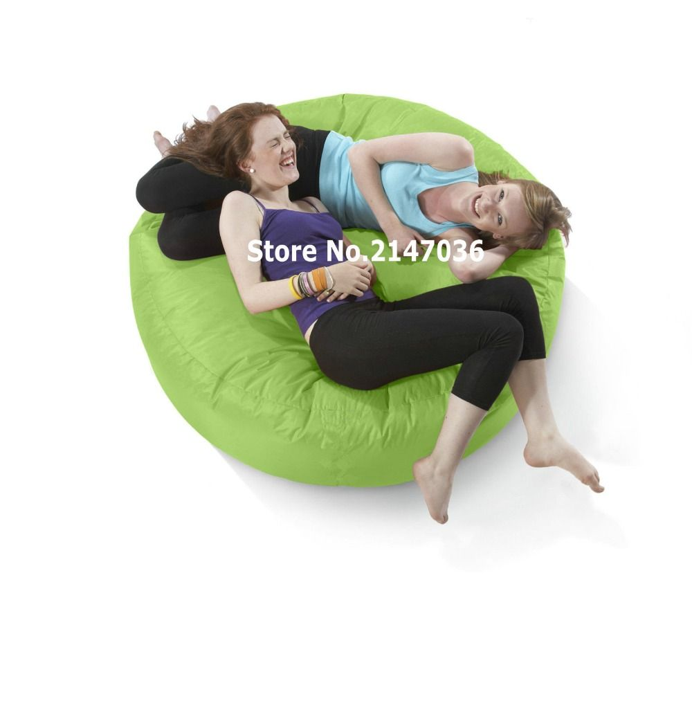 Green big hug huddle eco friendly indoor / outdoor round bean bag, many colors #Affiliate