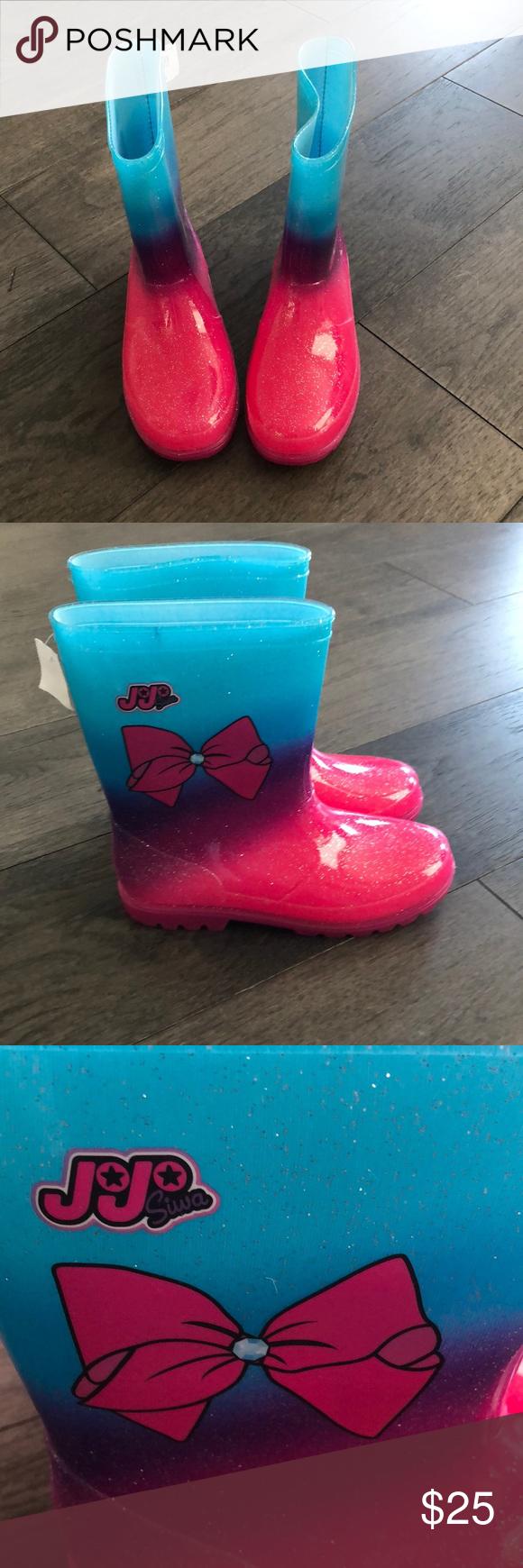 Jojo Siwa Nickelodeon girl's rain boots