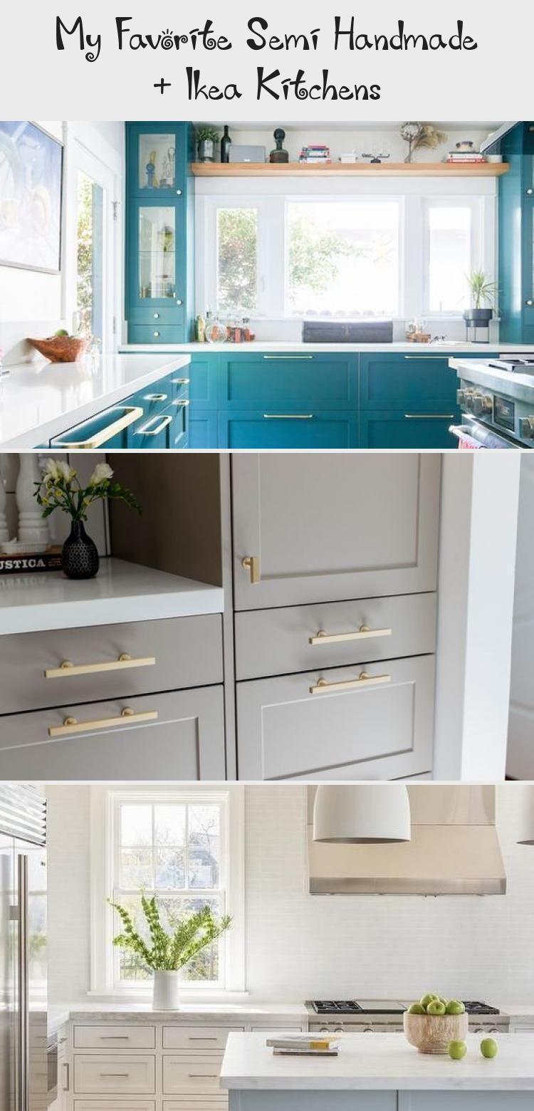 My Favorite Semi Handmade Ikea Kitchens Ikea Kitchen Light Gray Cabinets Marble House
