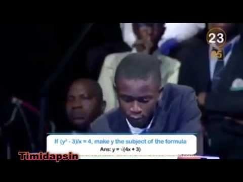EXPLICIT INFORMATION: Nigerian Boy Ayodeji Answers 10 Tough Maths Questi...