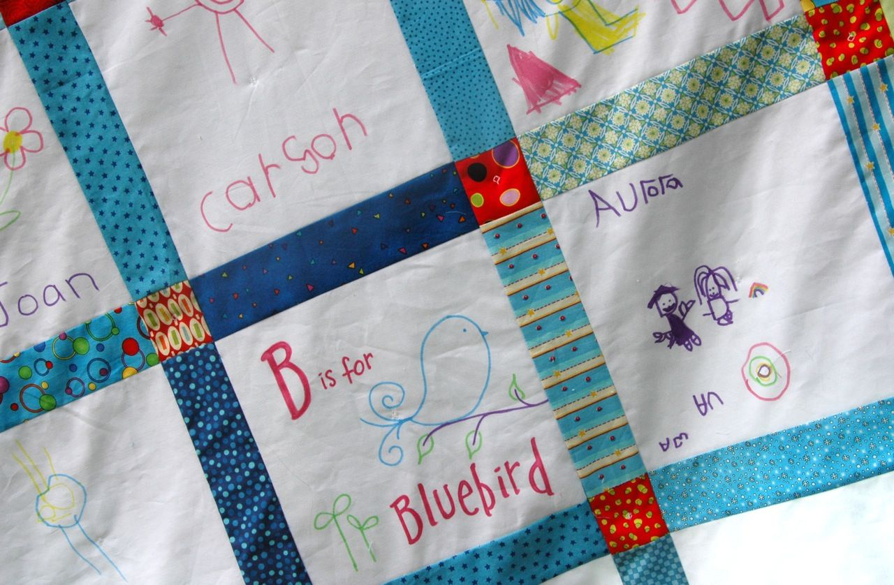 classroom quilt with fabric markers month was the quilt