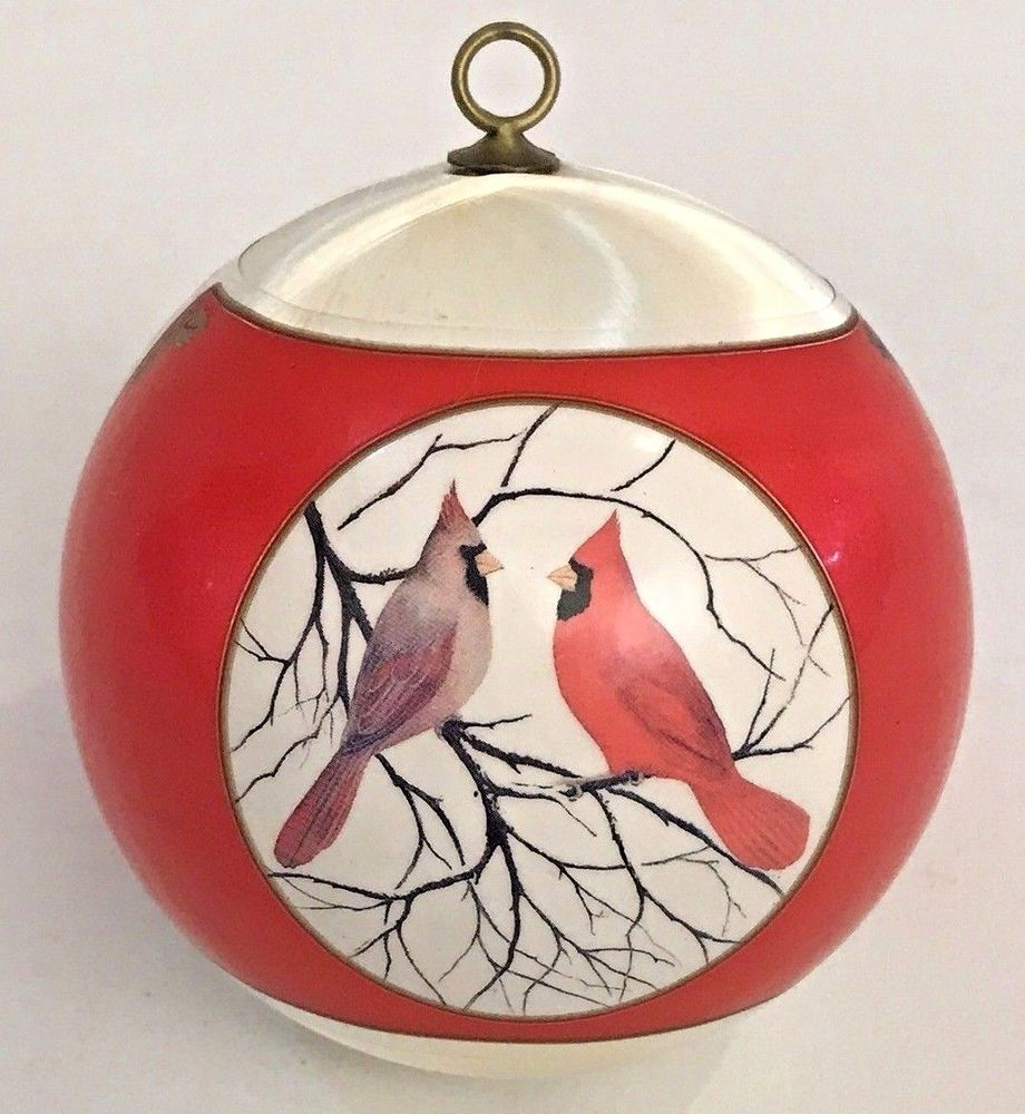 Hallmark Our First Christmas Ornament.Vintage Christmas Ornament Satin Ball Our First Christmas