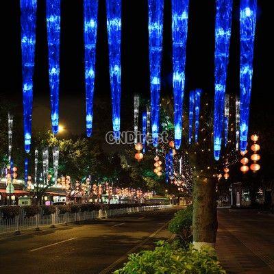 856 30cm 32led 8 tubes blue led icicle light tube dripping christmas garden decoration eu plug