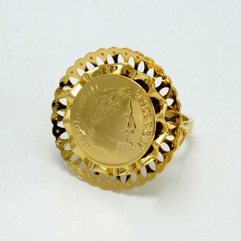 140c02123c60c Anniyo Napoleon Coin Ring Women,Arab Meatl Coin Rings Middle Eastern ...