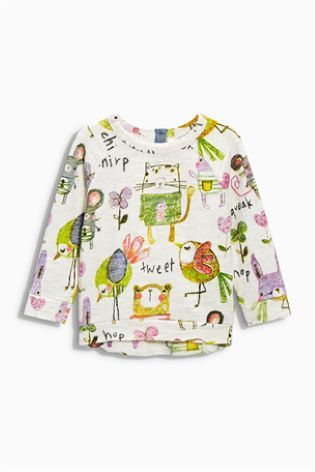 Buy Oatmeal All Over Print Crew Top (3mths-6yrs) online today at Next: Belgium