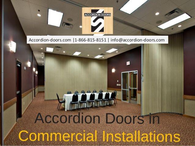 Accordion Doors In Commercial Installations Accordion Doors 1