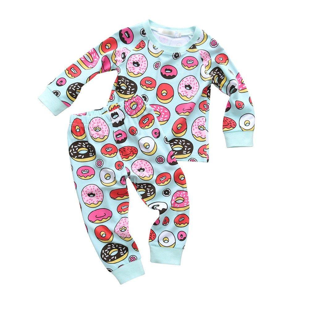 2PCS Children Kids Boy Long Sleeve Tops Shirt+Pants Casual Party Suit Clothes