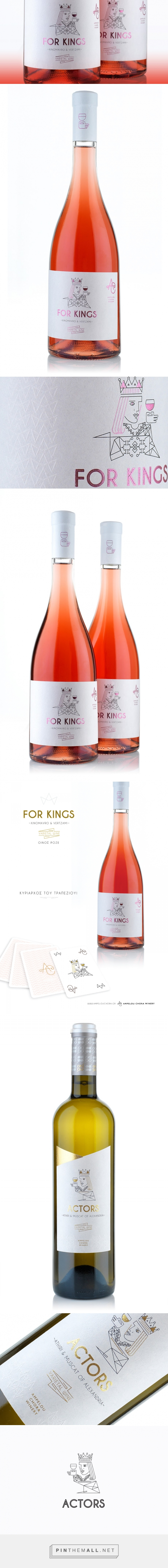 For Kings & Actors Wines - Packaging of the World - Creative Package Design Gallery - http://www.packagingoftheworld.com/2016/05/for-kings-actors-wines.html