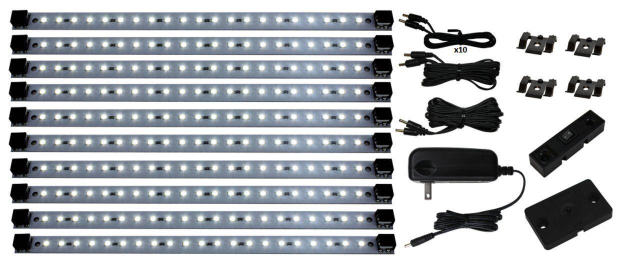 Inspired led super deluxe pro series 21 led kit with dimmer inspired led super deluxe pro series 21 led kit with dimmer included under cabinet lighting 24 watt 12v dc pure white 4200 k 135 lmft solutioingenieria Images