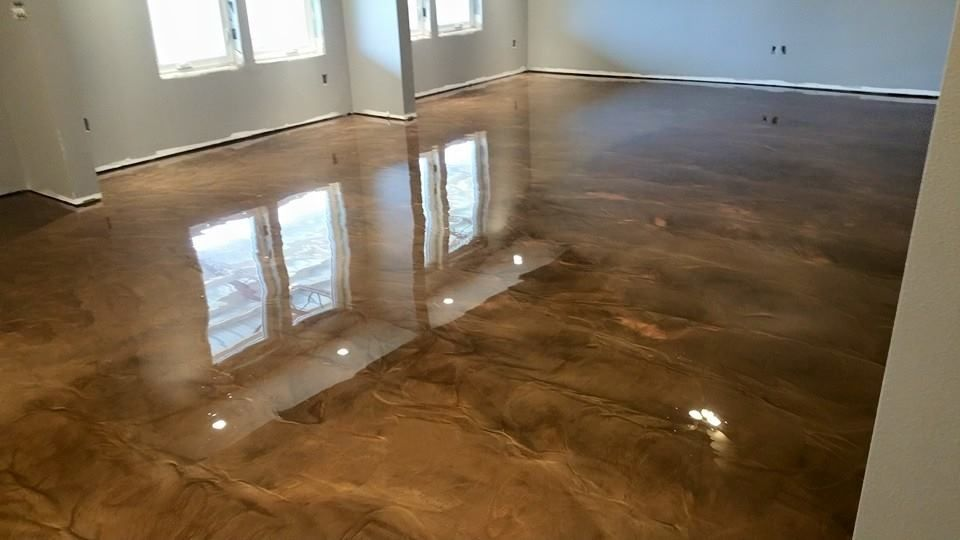 Concrete Construction Decorative Polyaspartic Elitecrete Epoxy Basement Makeover Flooring Decor