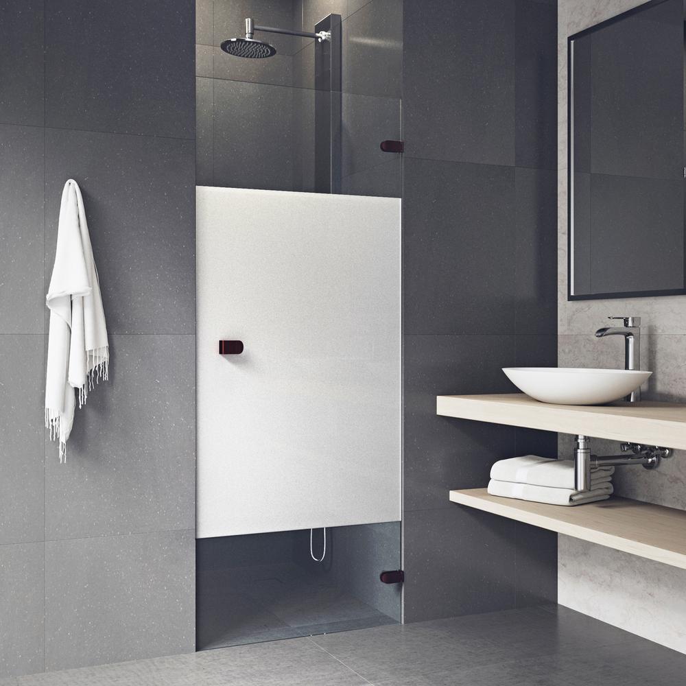 Vigo Tempo 28 To 28 1 2 In X 70 625 In Frameless Hinged Shower