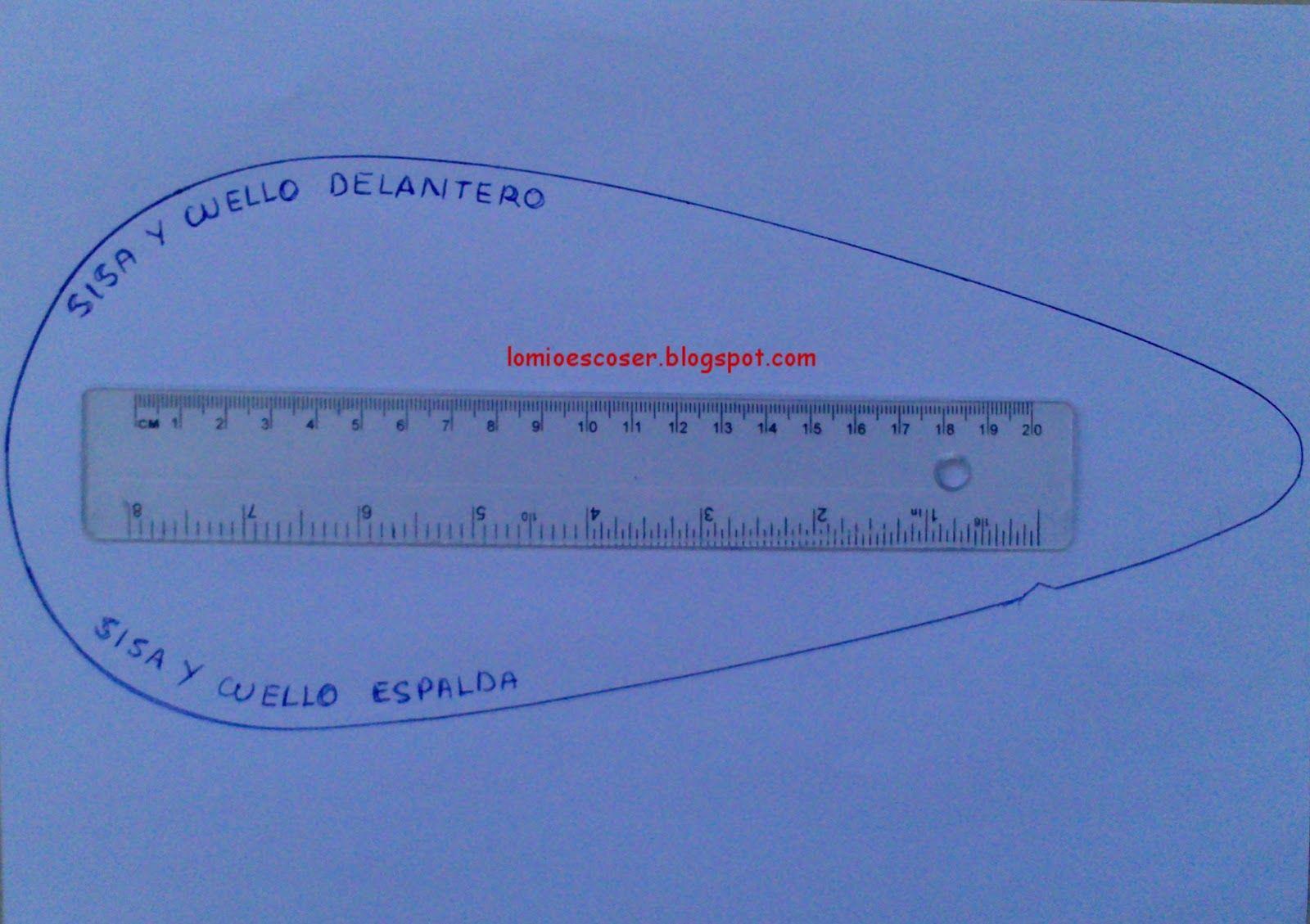 Plantilla en pdf para reglas curvas   Reglas de costura ...