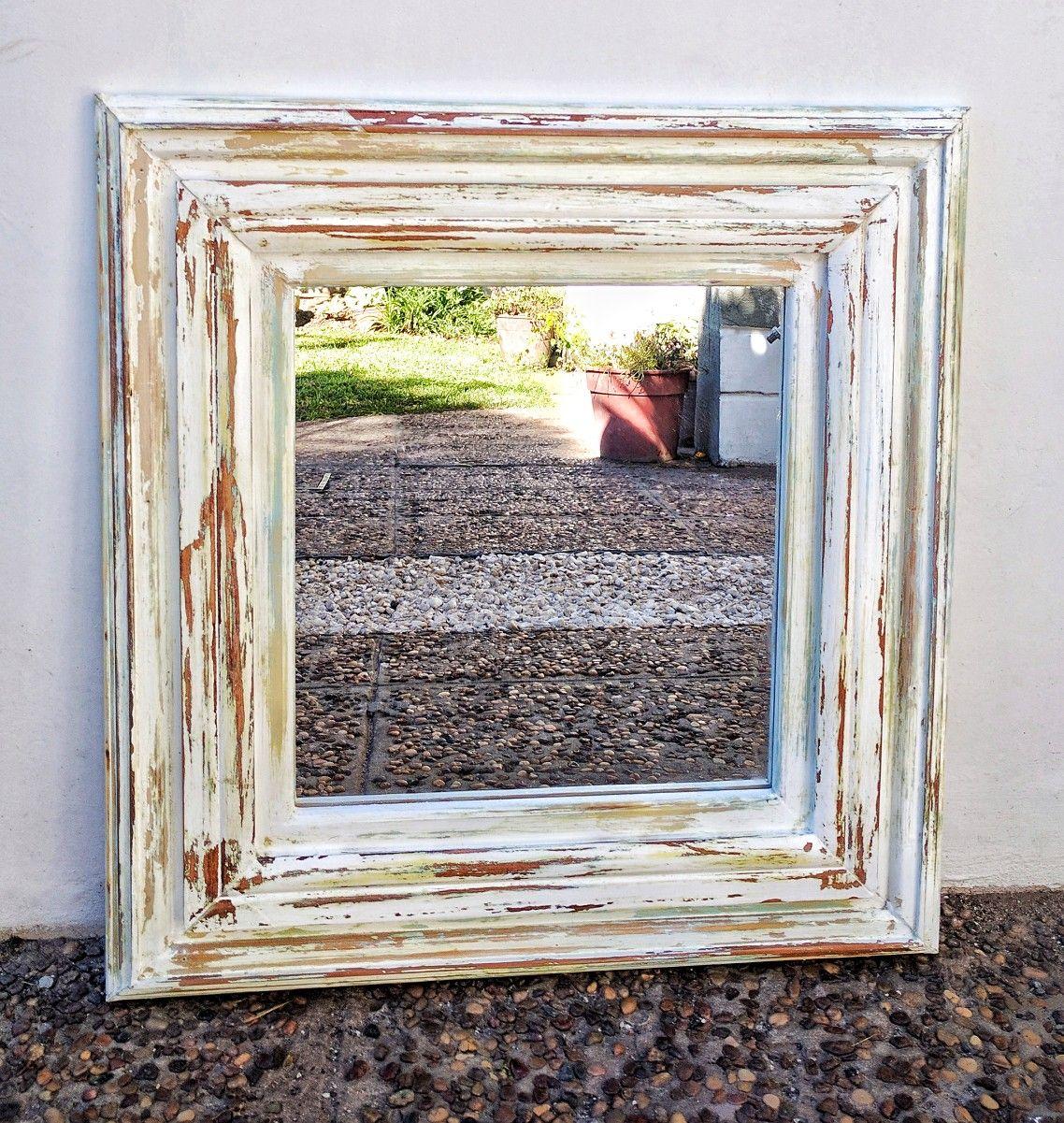 Marco de espejo hecho con contramarcos reciclados by benditamadera ...
