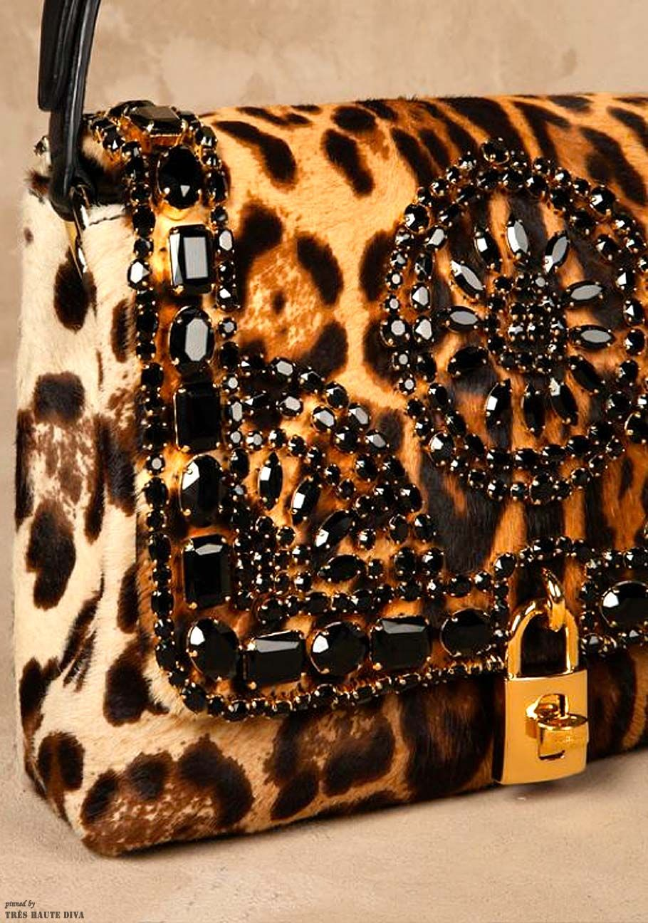 Dolce & Gabbana Small Leopard Leather Bag